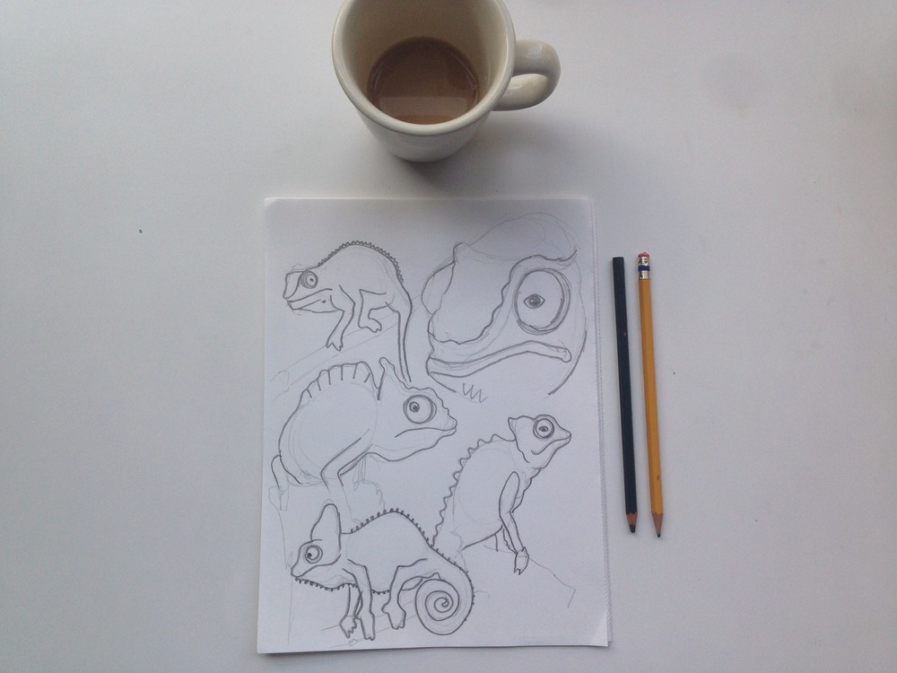 chameleons | year of creative habits