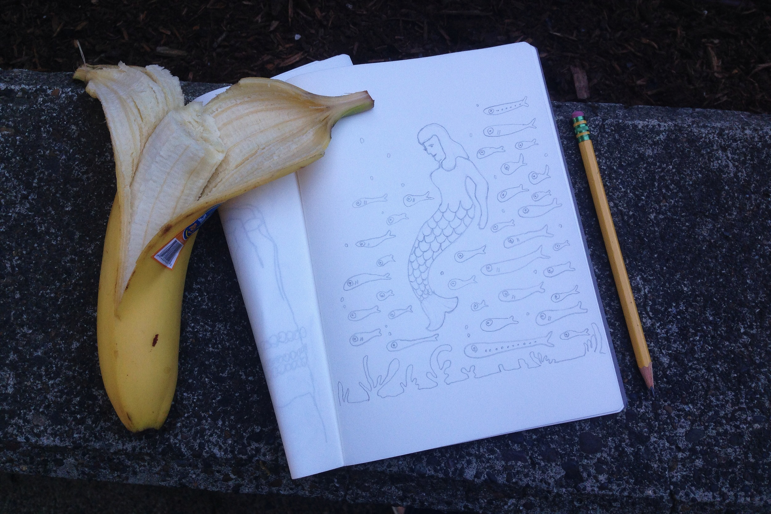 banana mermaid | year of creative habits