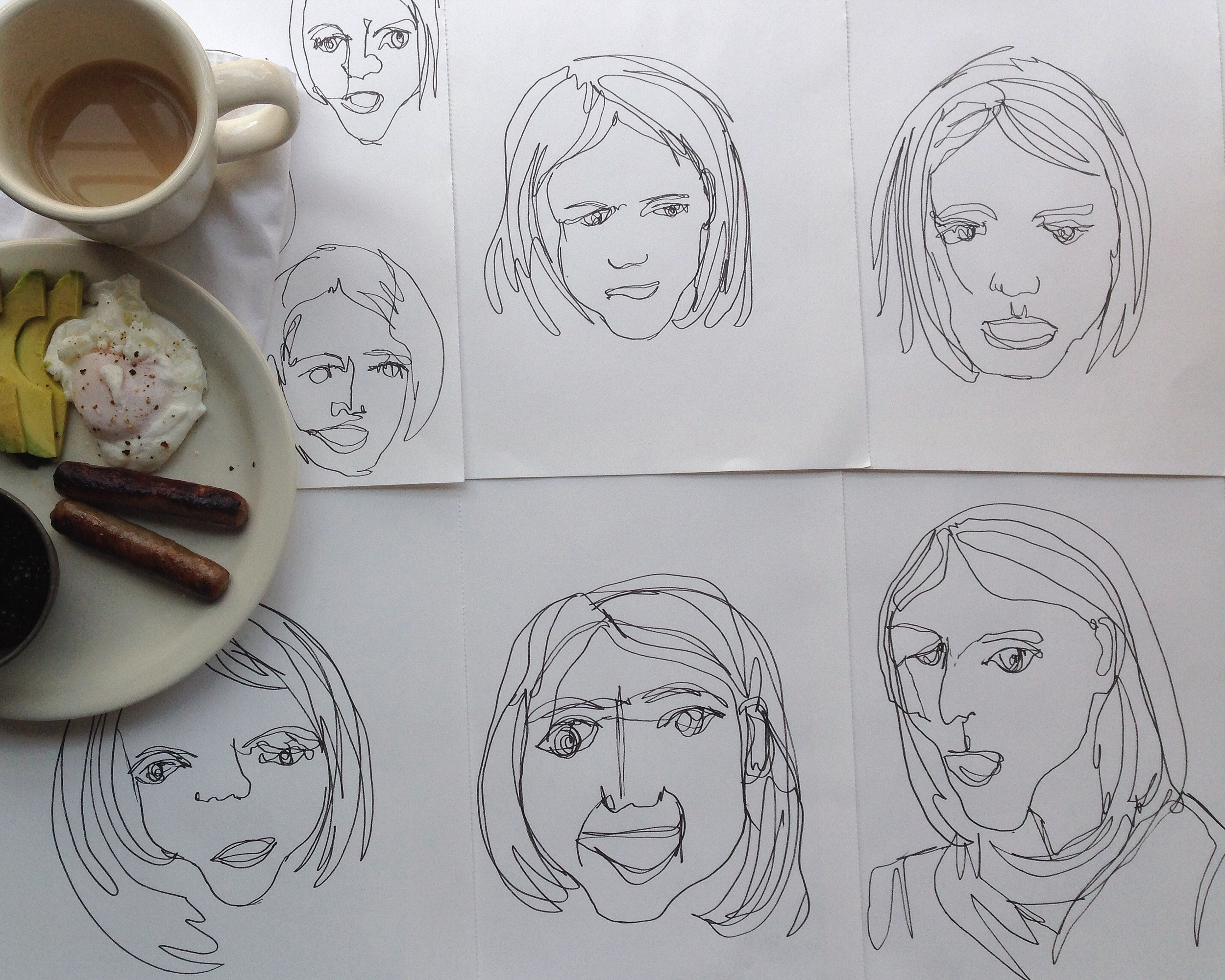 contour faces | year of creative habits