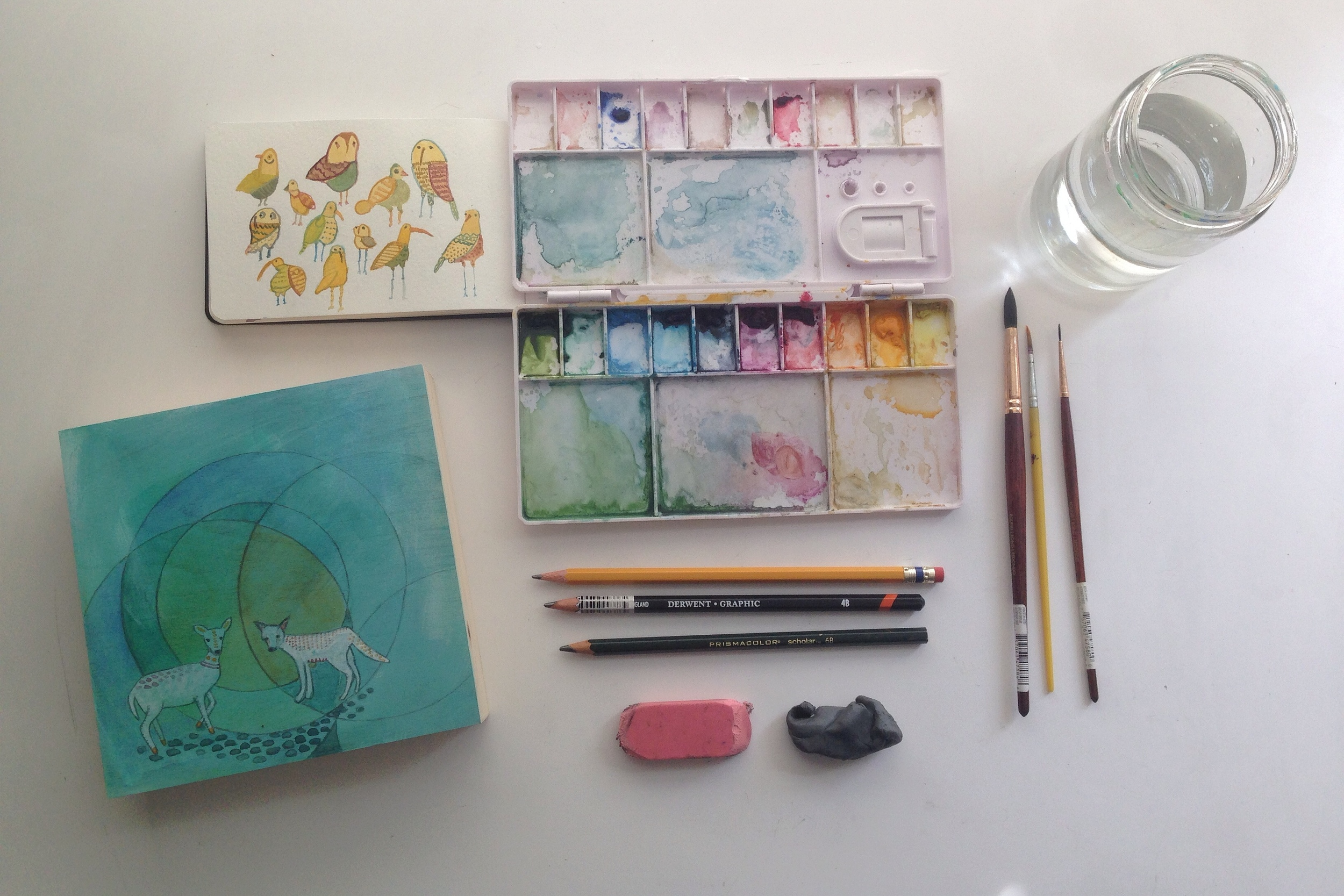 watercolor supplies | year of creative habits