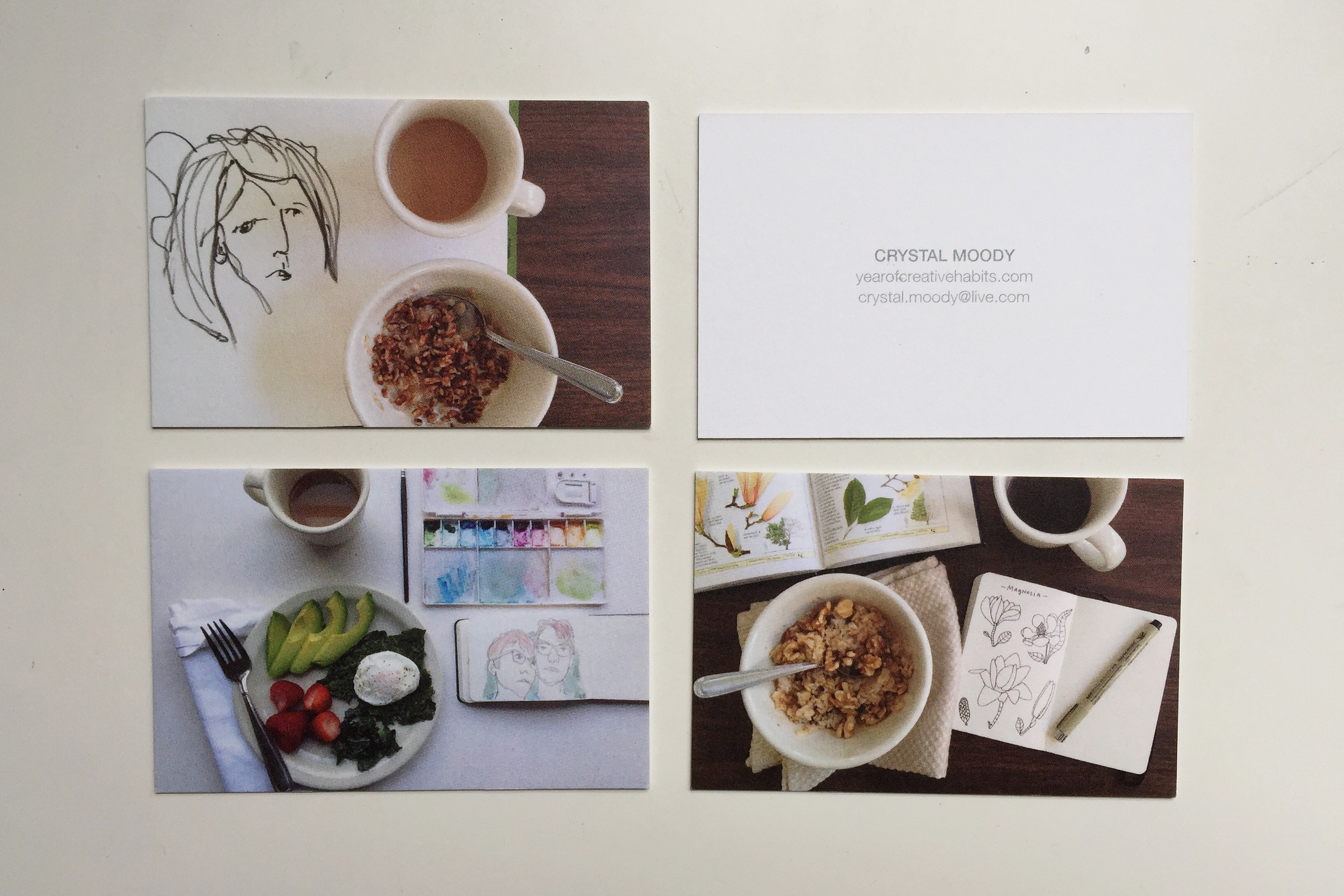 business cards | year of creative habits