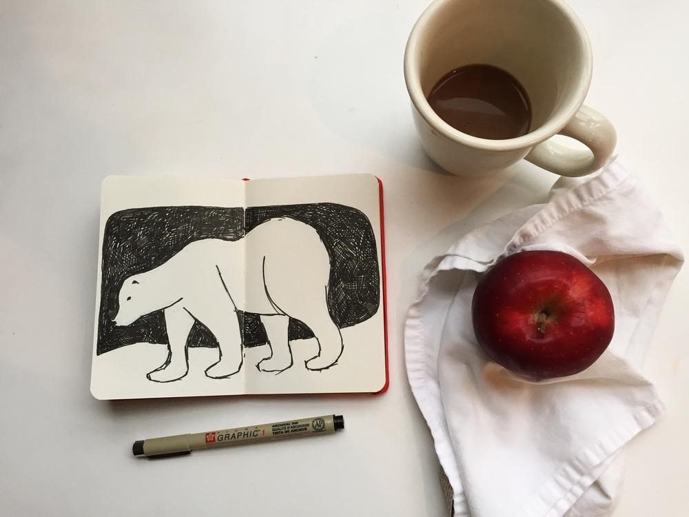 polar bear | year of creative habits