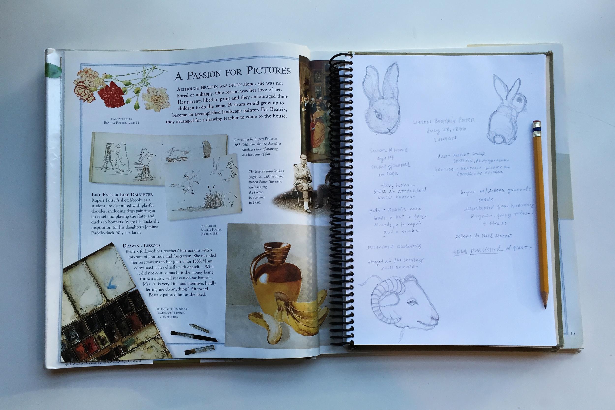 beatrix potter | year of creative habits