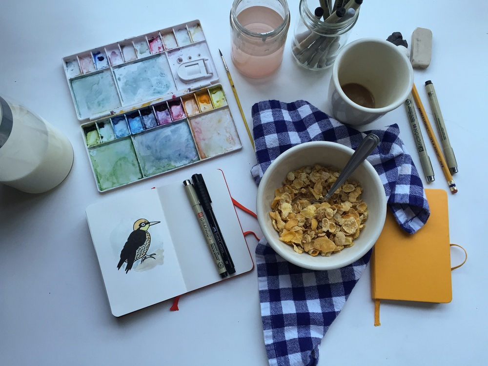 woodpecker | year of creativity habits