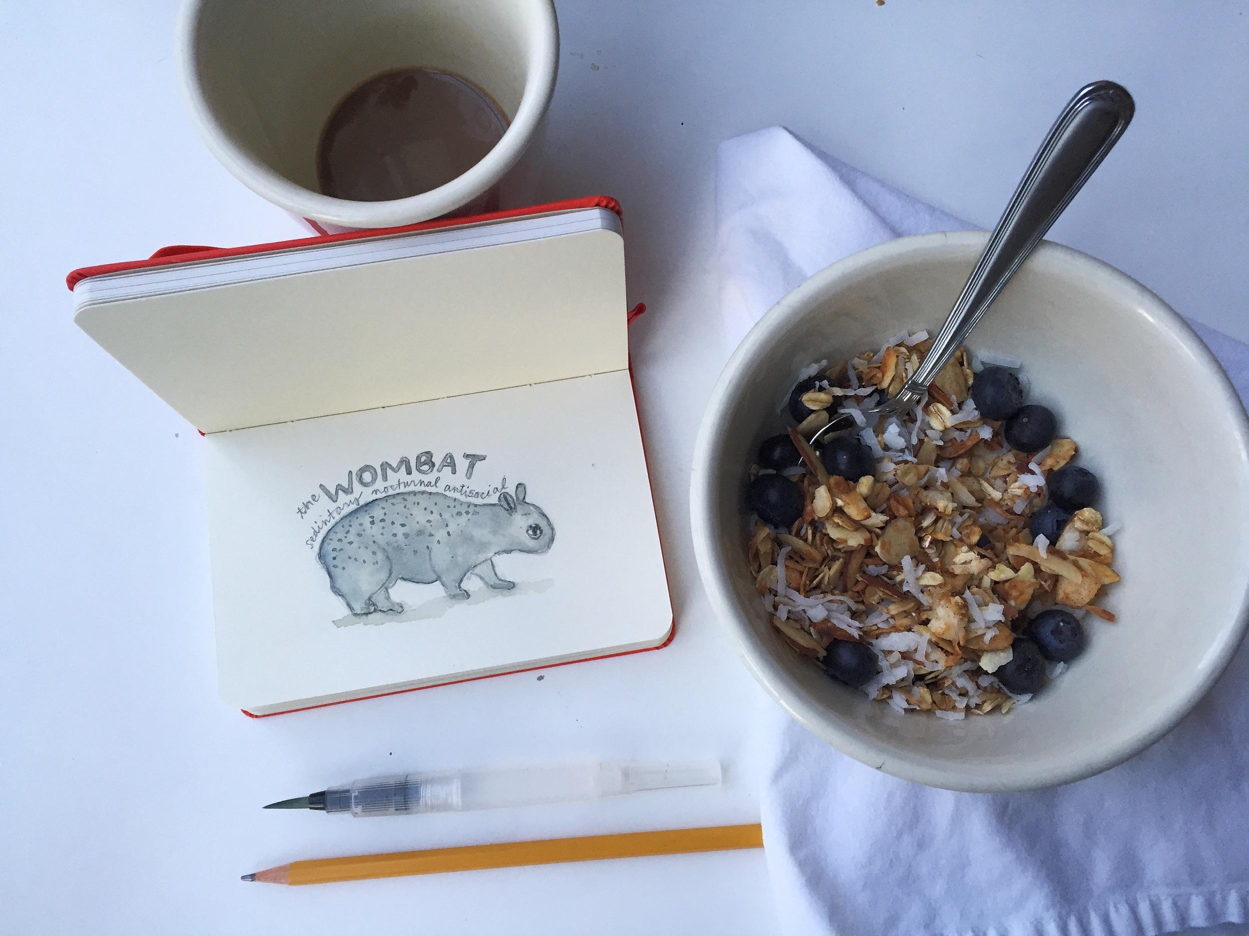 wombat | year of creative habits