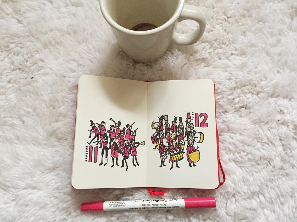 twelve drummers | year of creative habits