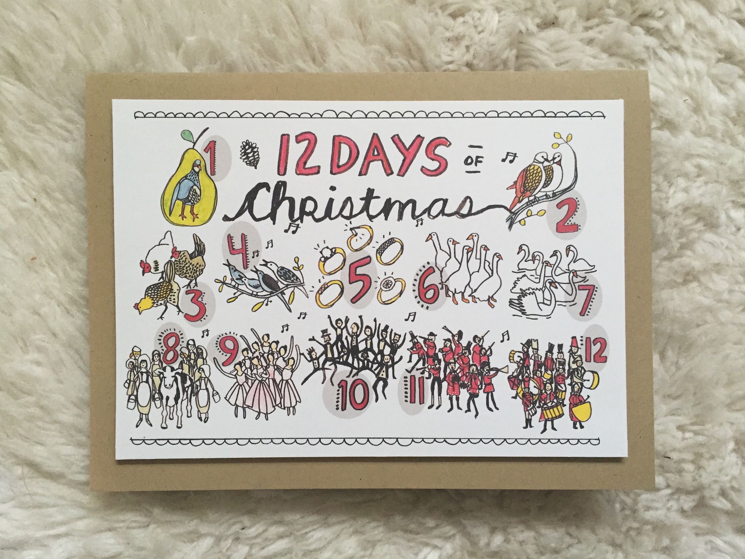12 days card | year of creative habits