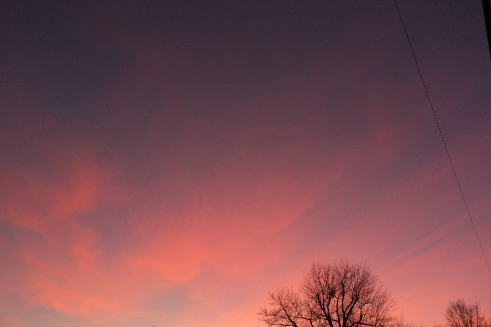 pink sky | year of creative habits