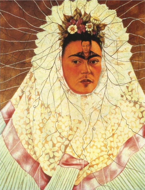 Frida Kahlo - s elf portrait as a Tehuana