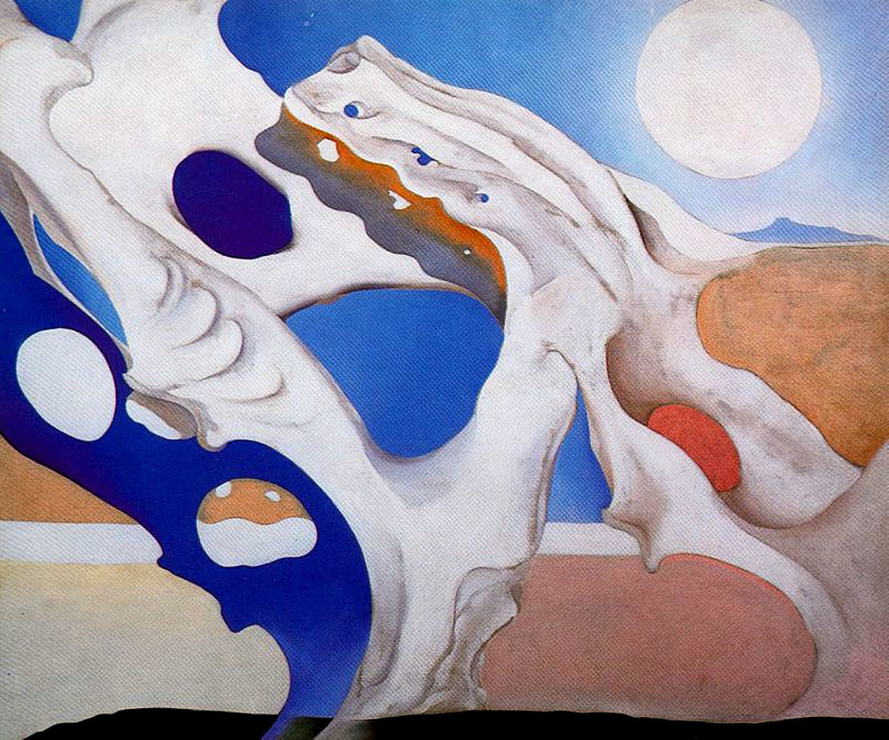 Georgia O'Keeffe - Shadow with Pelvis and Moon