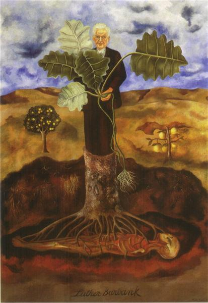 frida kahlo | portrait of Luther Burbank