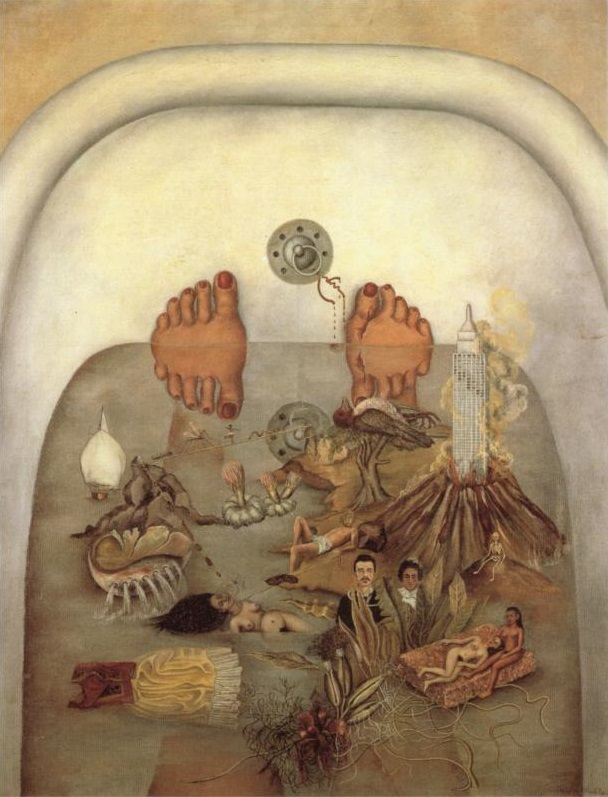 Frida Kahlo, detail from What the Water Gave Me, 1938