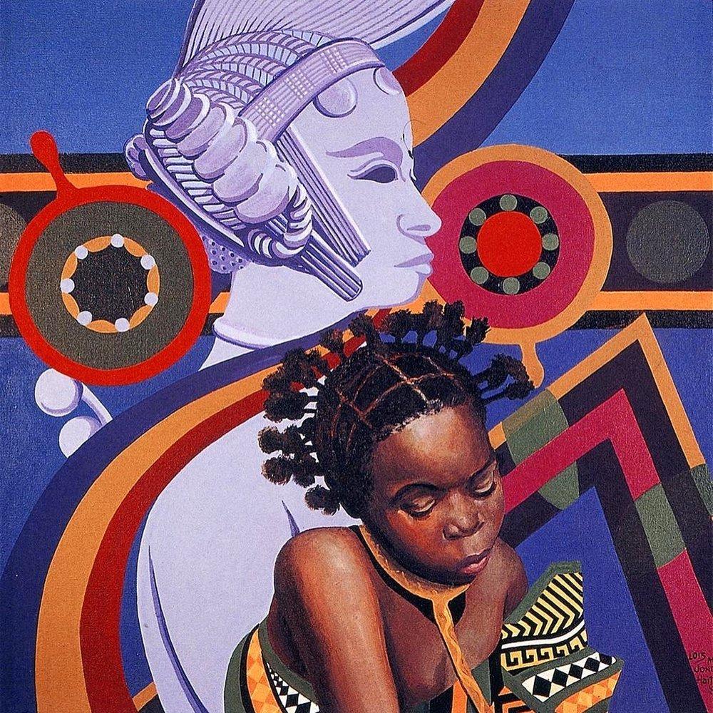 Deux Coiffures D'Afrique 1982 Loïs Mailou Jones