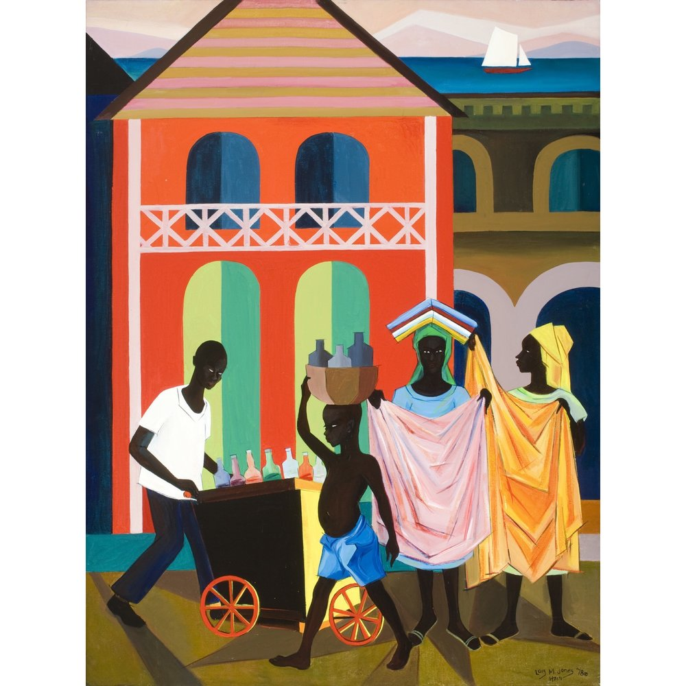 Street Vendors, 1978 Loïs Mailou Jones