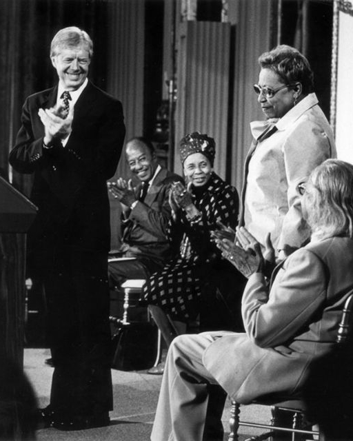 1980 Loïs was one of ten artists given Award for Outstanding Achievement in the Visual Arts by President Jimmy Carter at the White House.