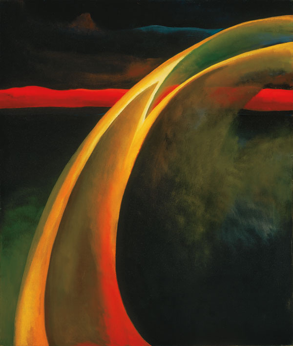Georgia O'Keeffe | Red and Orange Streak, 1919