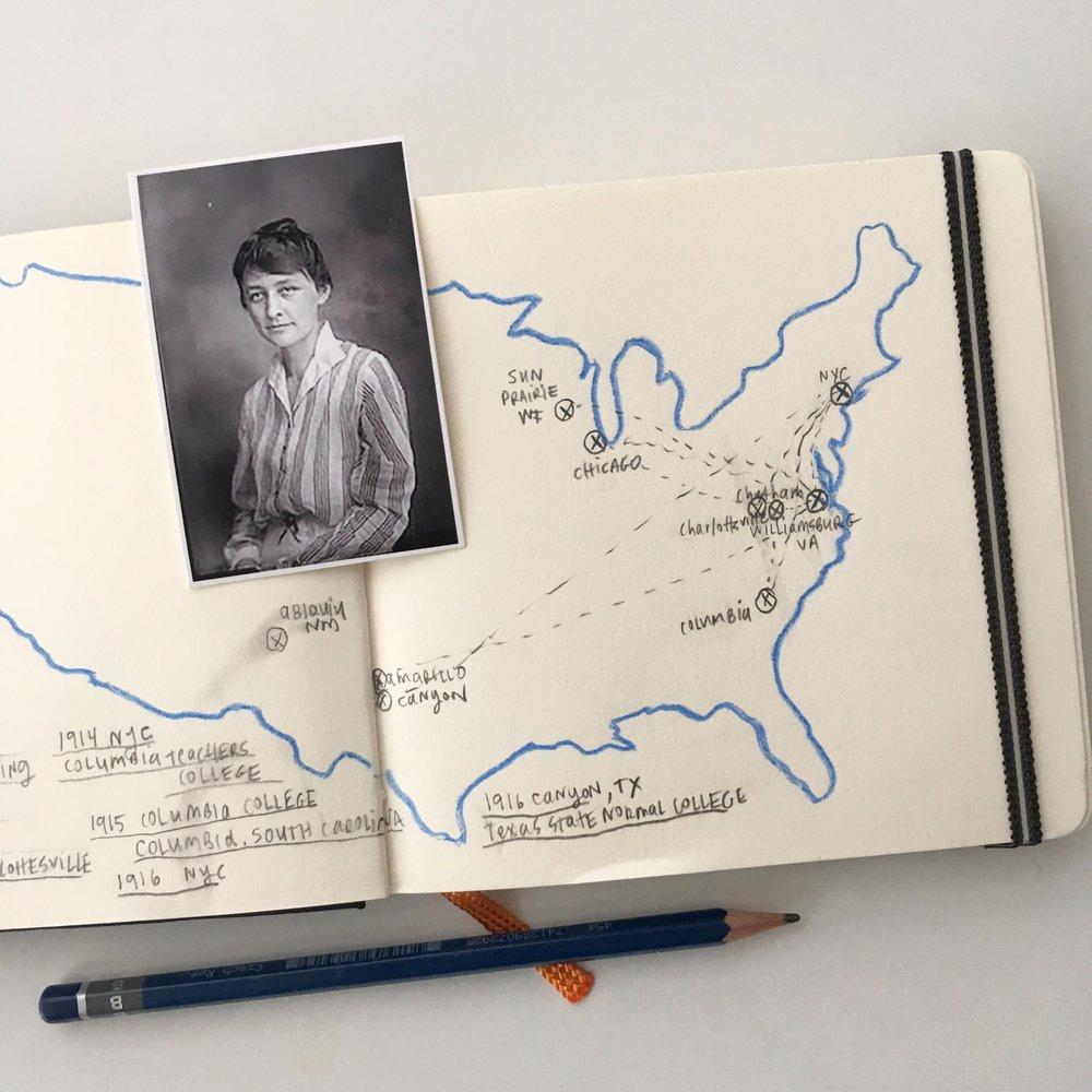Crystal Moody | #deadartistssociety Geogia O'Keeffe sketchbook