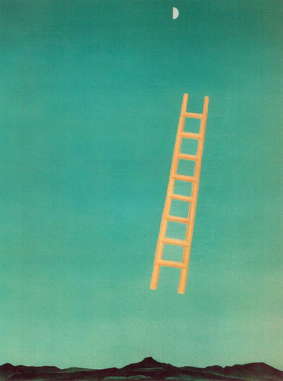Georgia O'Keeffe | Ladder to the Moon,  1958