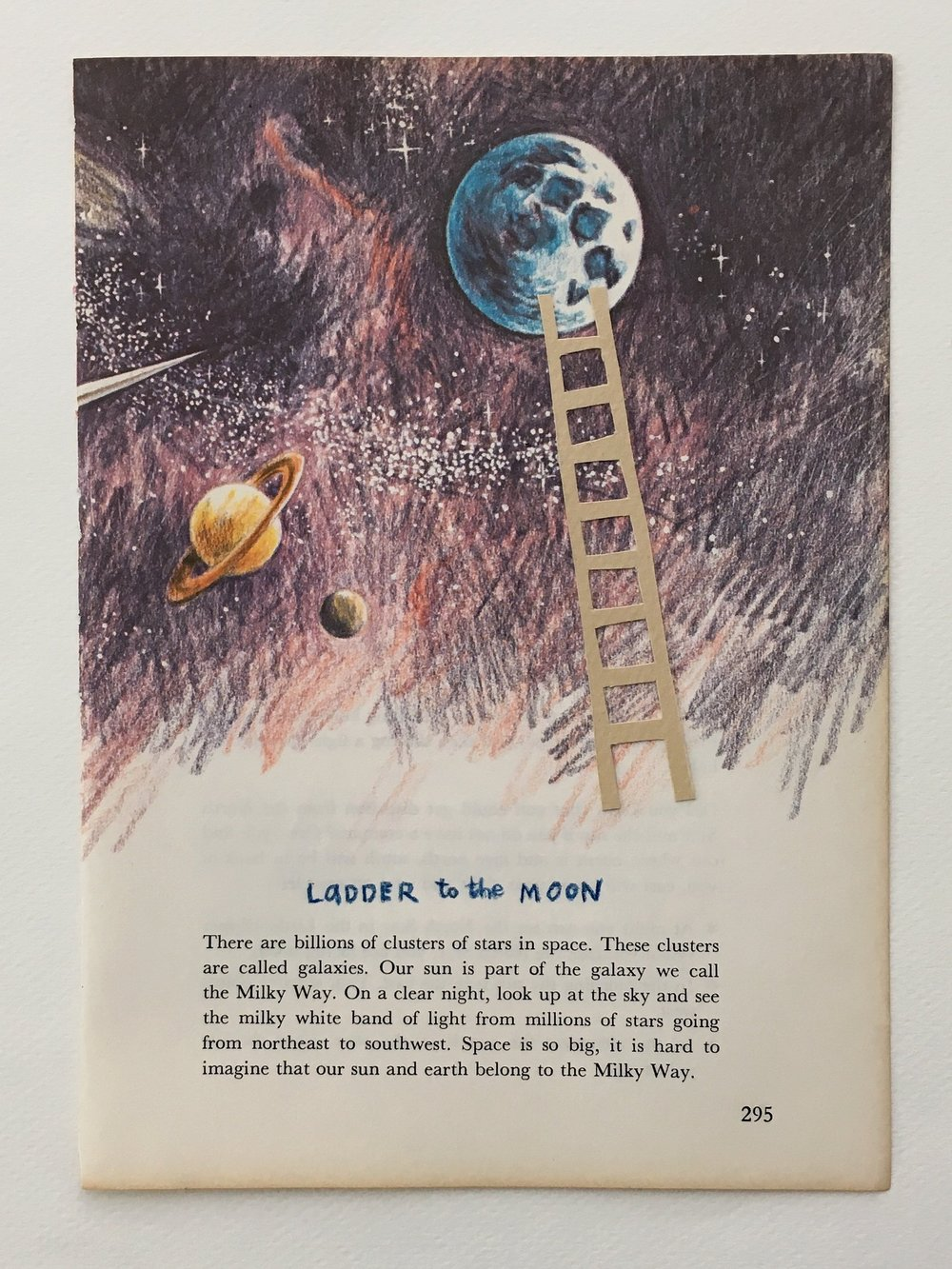 "crystal moody | ""ladder to the moon"" collage"