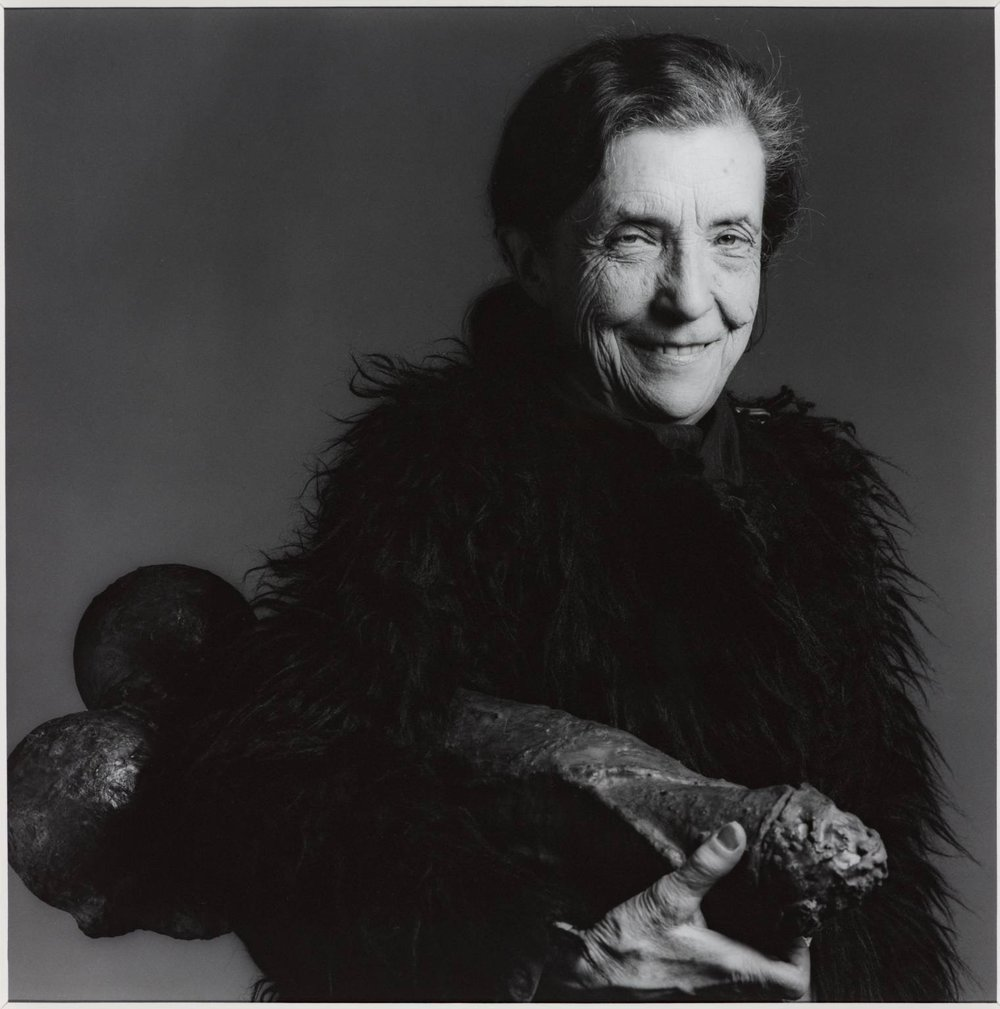 Photo of Louise Bourgeois by Robert Mapplethorpe 1982.