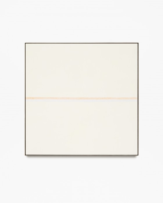 Happiness, 1999 by Agnes Martin, acrylic and graphite on canvas.