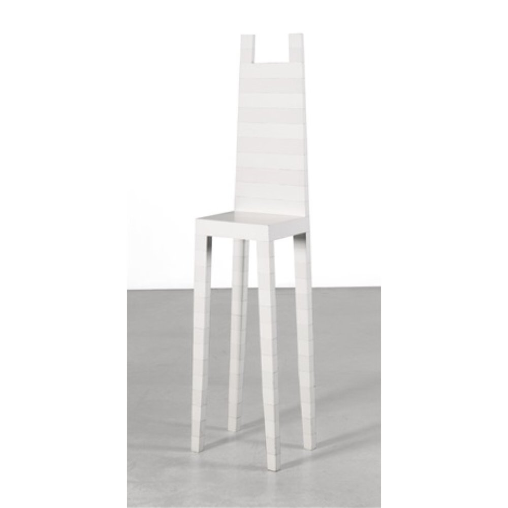 "Robert Wilson ""On a clear day you can see your mother. A chair for Agnes Martin"" 1991"