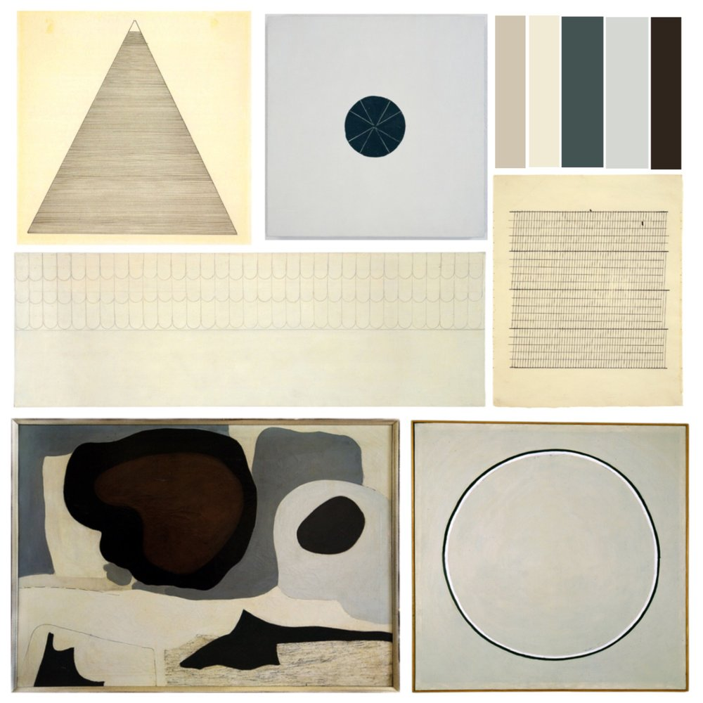 crystal moody | Agnes Martin inspiration board
