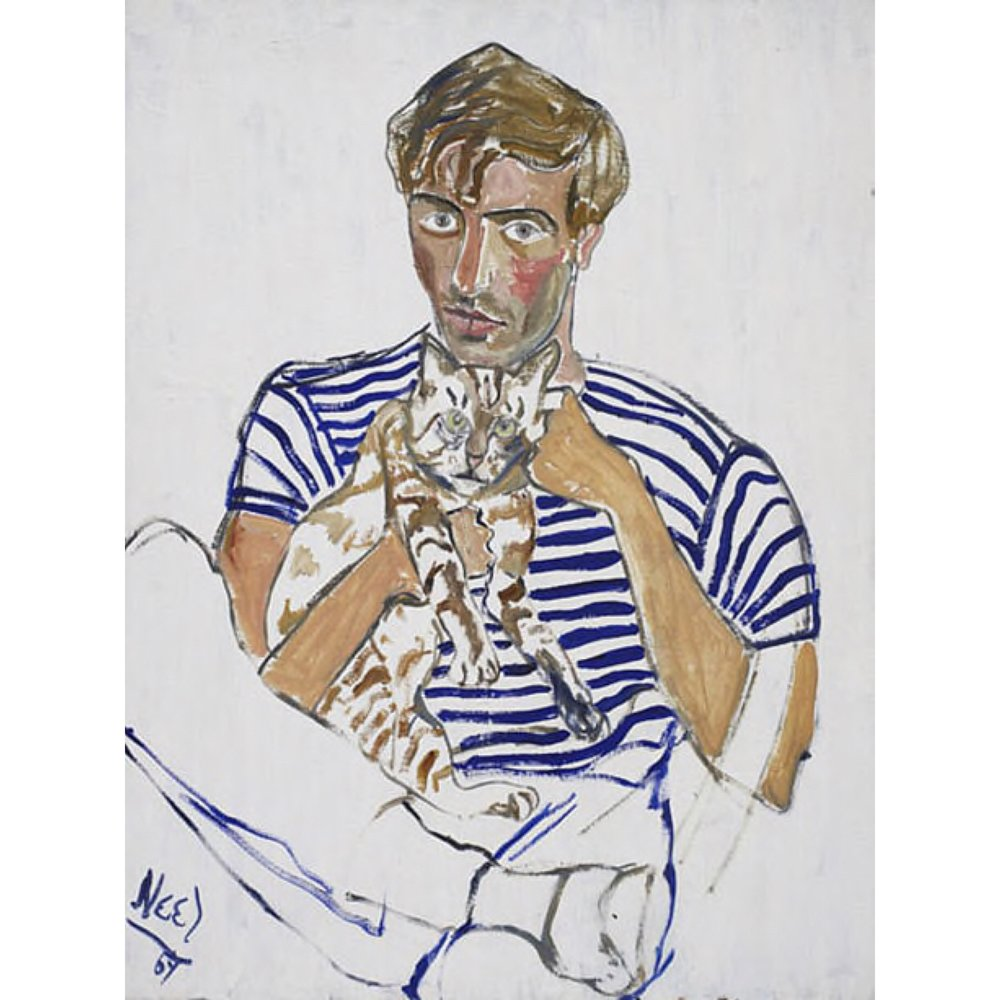 Hartley with cat, 1967