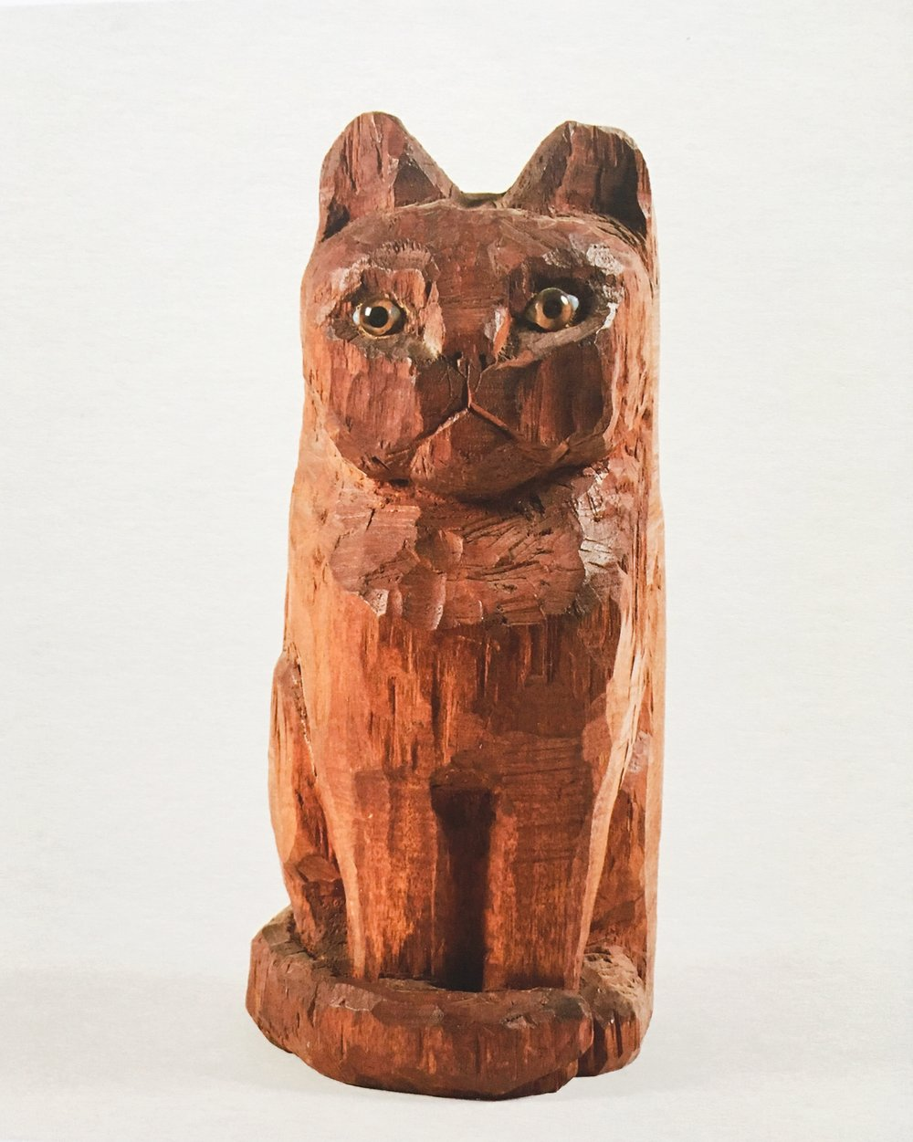 Cat, 1957 wood and glass