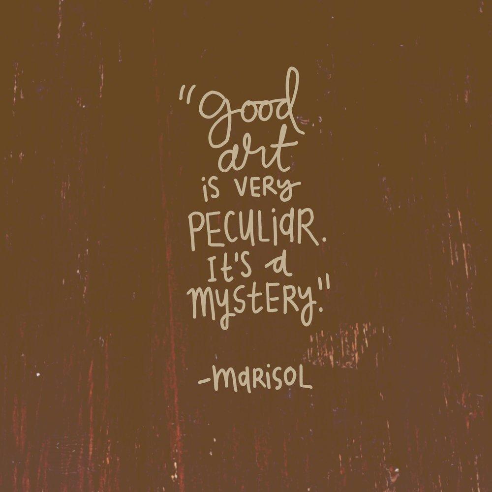 crystal moody | #deadartistsoc Marisol Escobar