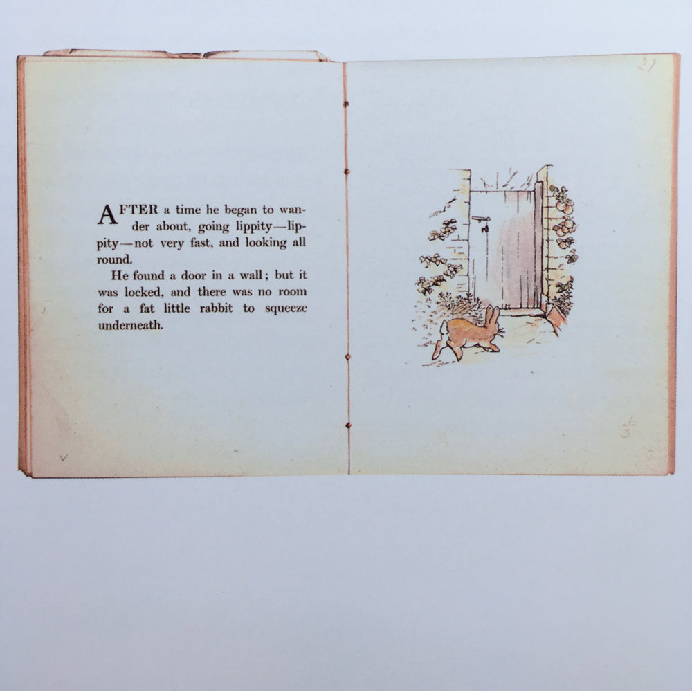 adding color to her original illustrations, this is a dummy book that she used for planning