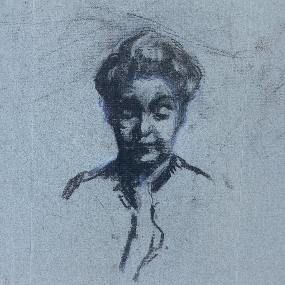 a portrait of her mother