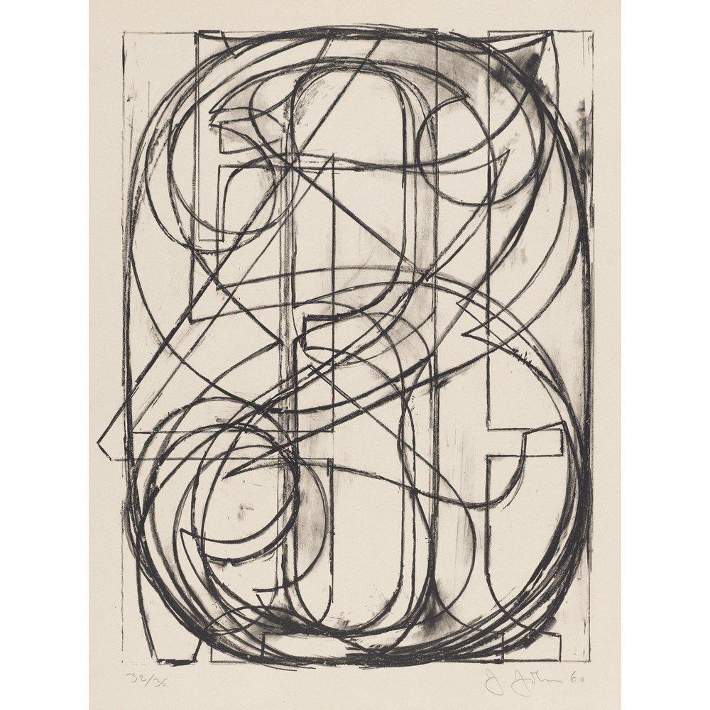 Jasper Johns, 0-9 (1960)