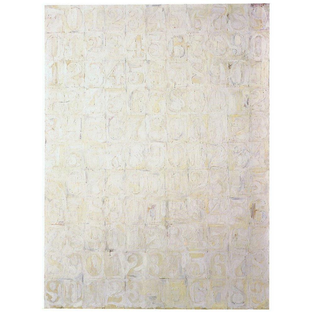 Jasper Johns, White Numbers (1957)