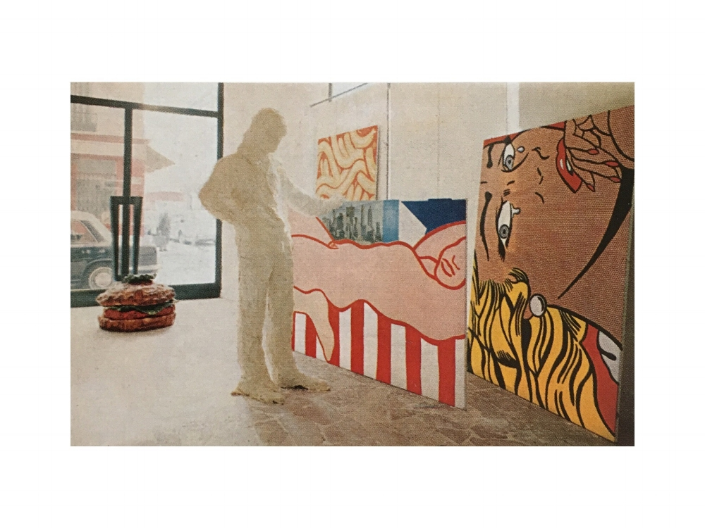 Installation view of America, America (1966)