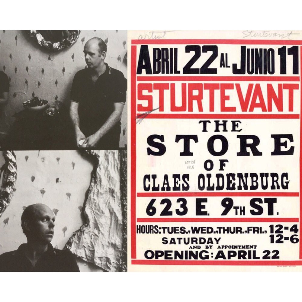 the show poster and Claes Oldenburg's reaction
