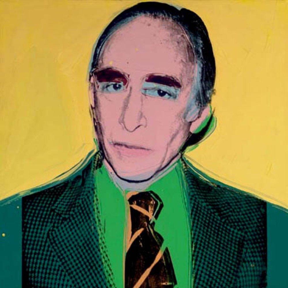 portrait of Leo Castelli by Andy Warhol