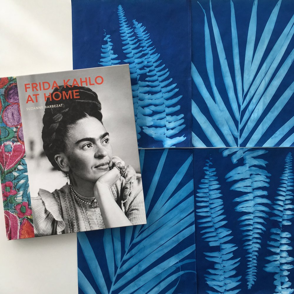 Everytime I study Frida, I get the itch to make sun prints... I think it's the cobalt blue and the plant life combo.