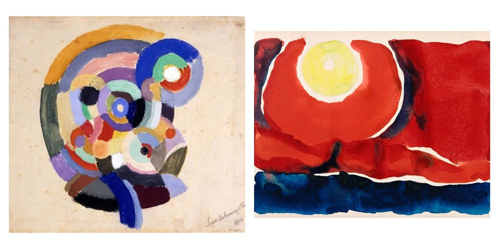 Sonia Delaunay Flamenco Singers, 1916 and Georgia O'Keeffe, Evening Star No. VI, 1917