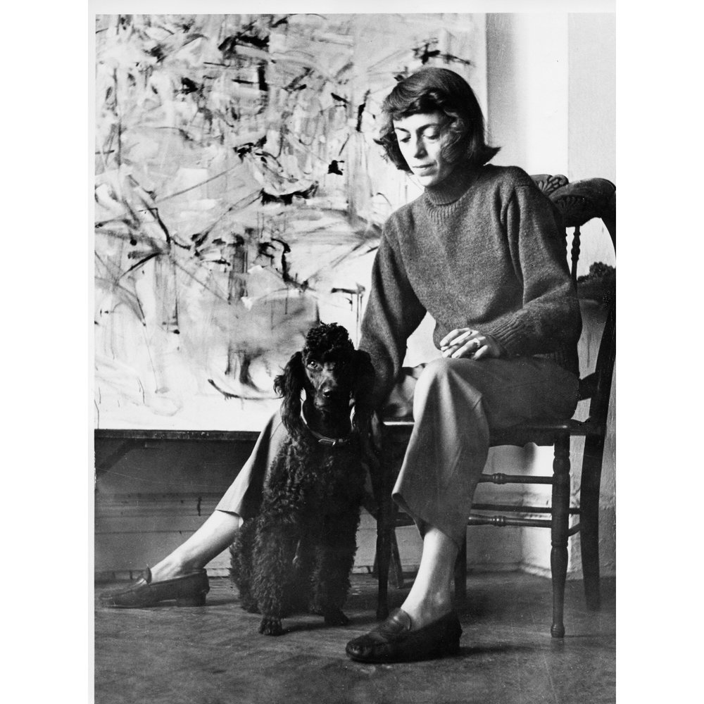 Joan with her dog Georges