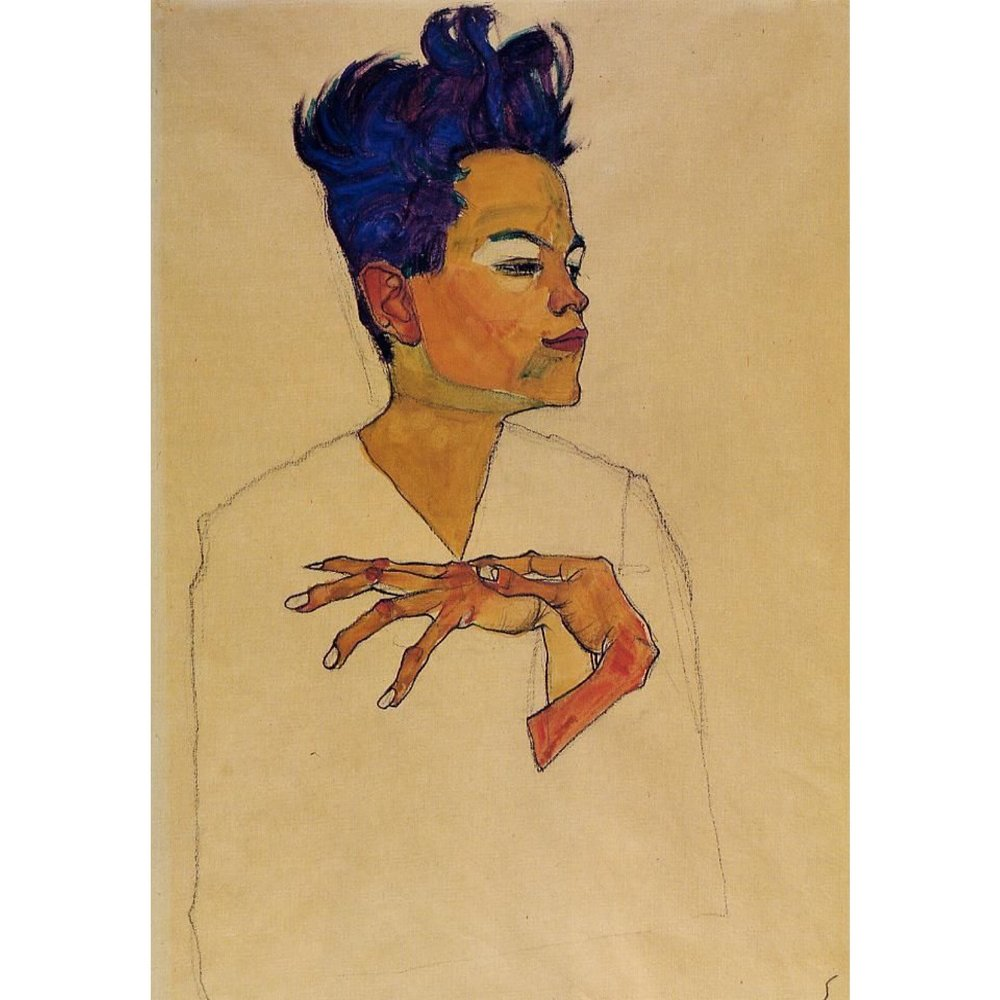 Self Portrait With Hands on Chest, 1910