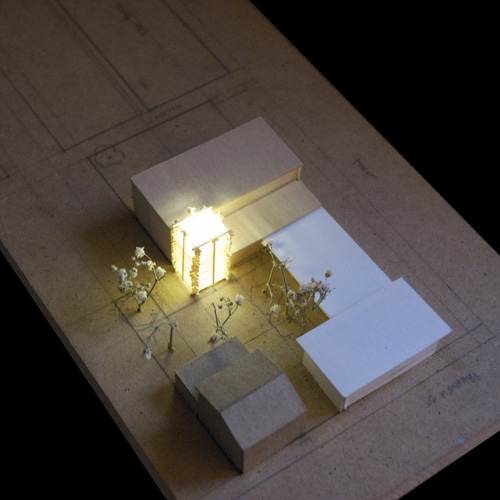 Aerial View Showing Proposed Entry 'Beacon' for the Church