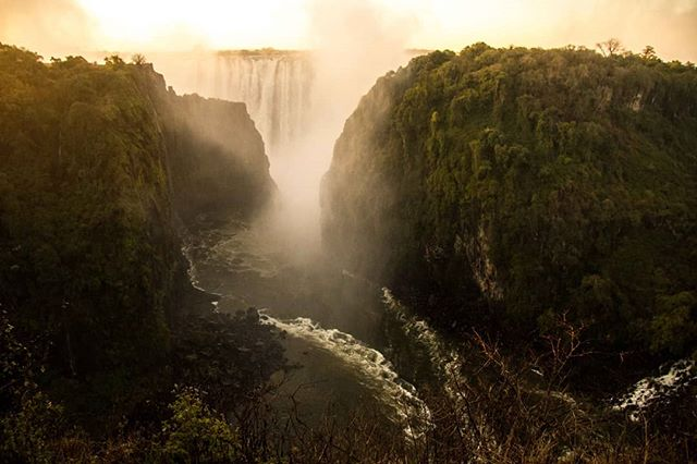 "The indigenous name for Victoria Falls literally means ""the mist that thunders"". I had a full appreciation for that name once my camera was drenched! (RIP Cannon Rebel) 📷 2015 #victoriafalls #zambia"