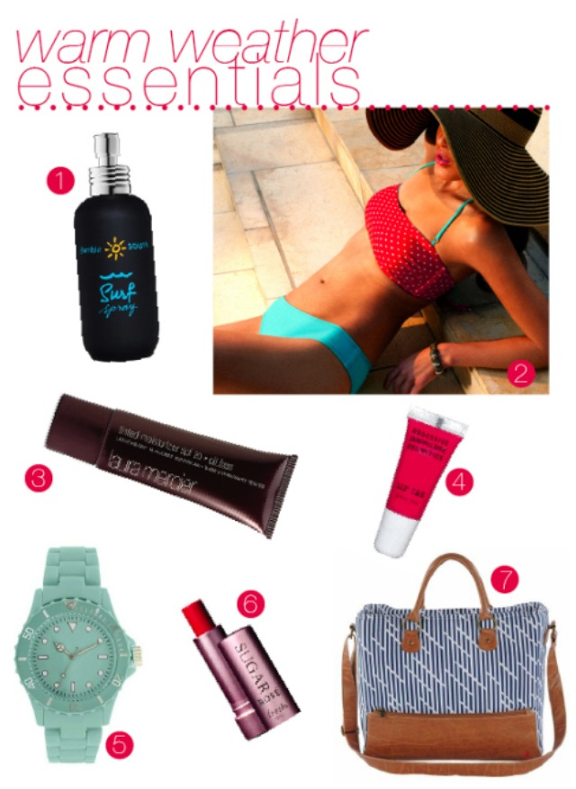 Dear Andi Warm Weather Essentials June 21st, 2012