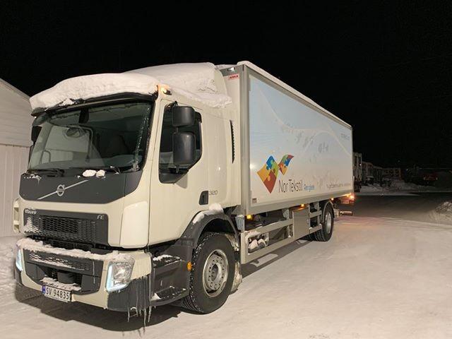 Første levering til UNN i Tromsø natten 25. januar.