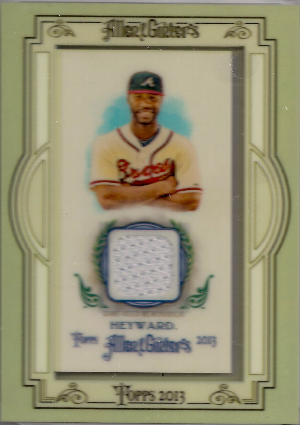 2013 Allen & Ginter Mini Relic #AGR-JHY