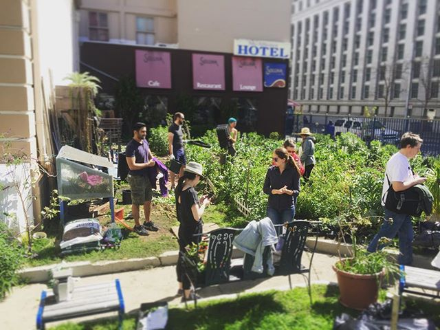Volunteering at the @TNDC ( @tndcsf ) #communitygarden - This is a great group of people making positive changes in SF! @rackspace