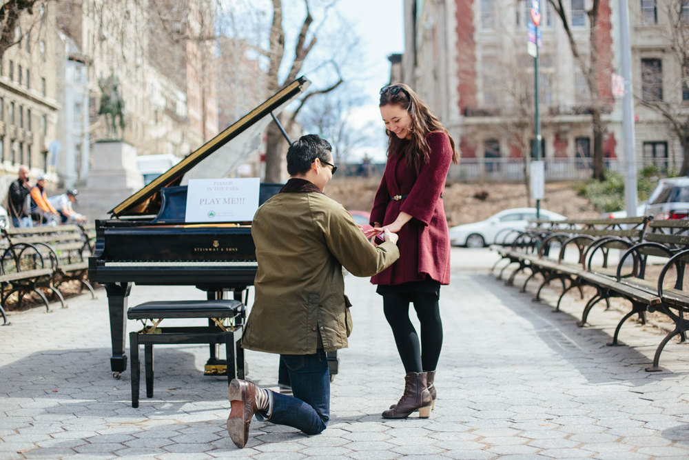 mark proposes to mara riverside park nyc