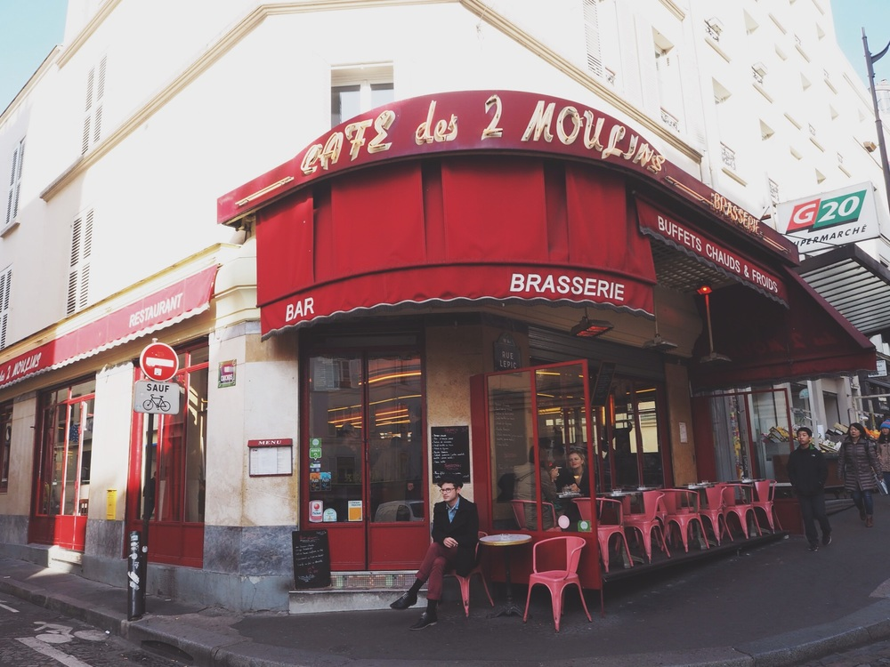 We had coffee and creme brulee at Le doux moulin cafe! My favorite movie of all time is Amélie, so you can imagine how stoked I was when I found out that the cafe is real! Also, the writer for the script is a regular that would sit and write in the cafe! I think I screamed when I saw it first.