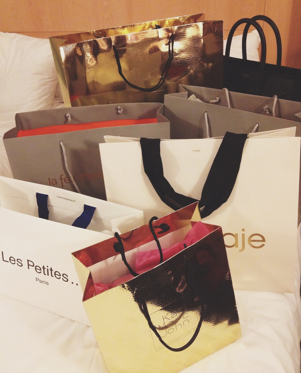 We did a lot of shopping. Maybe too much, but it's not everyday I'm in Paris!